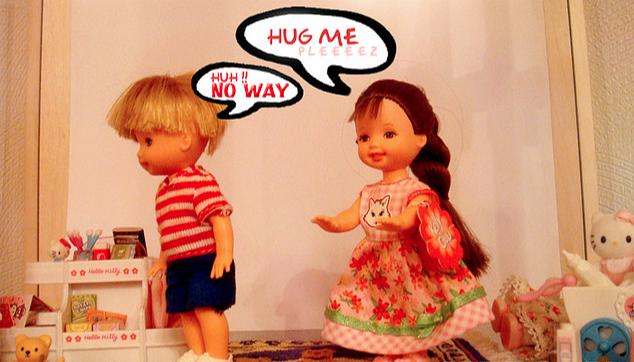 La privacité en amitié hugs