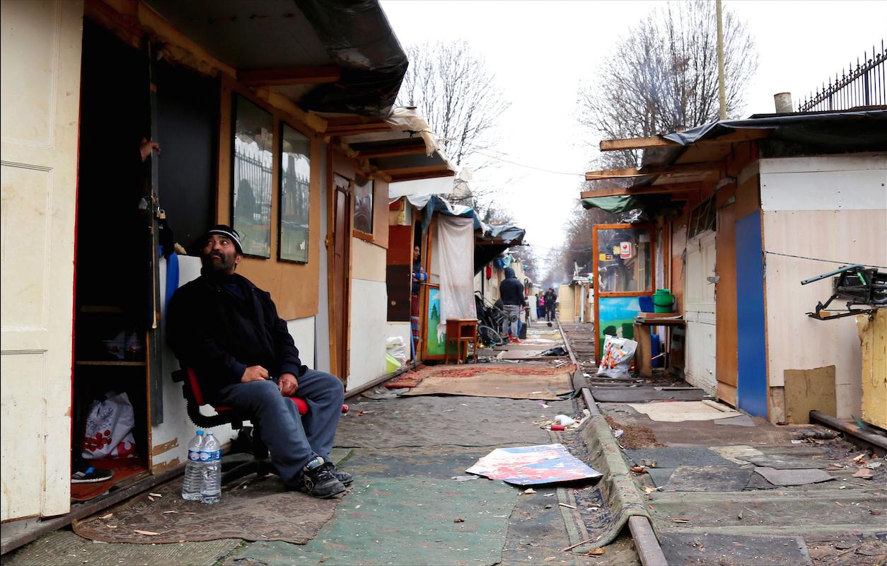 rom roumain bidonville roms paris 18 porte de clignacourt